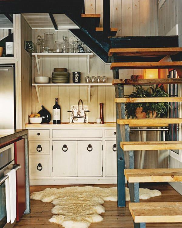 amenagement sous escalier espace cuisine
