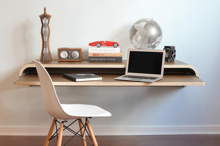 bureau coulissant optimiser espace chambre