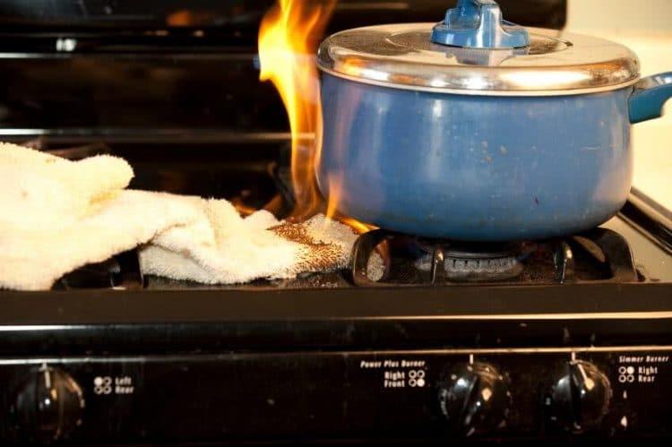 incendie maison cuisson