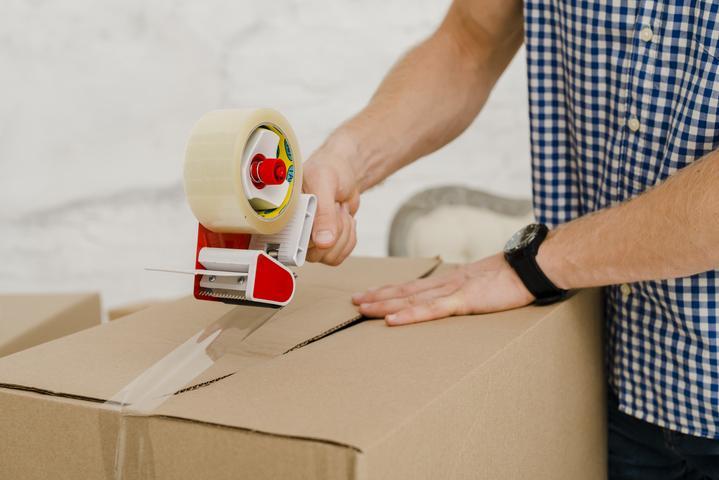preparation des cartons de déménagement