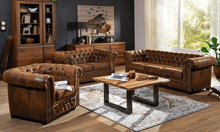 fauteuils club salon vintage