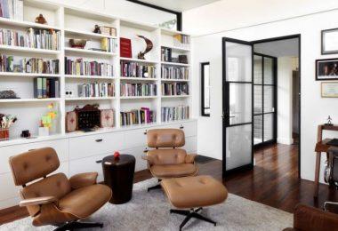 bibliothèque sur mesure moderne