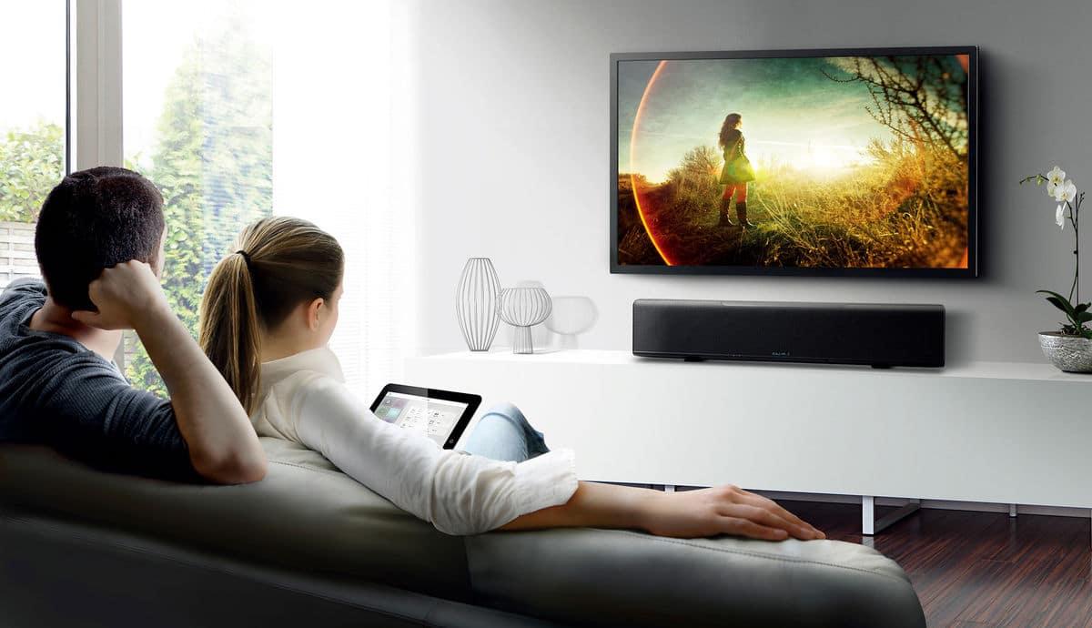 television fixee au mur sans cable