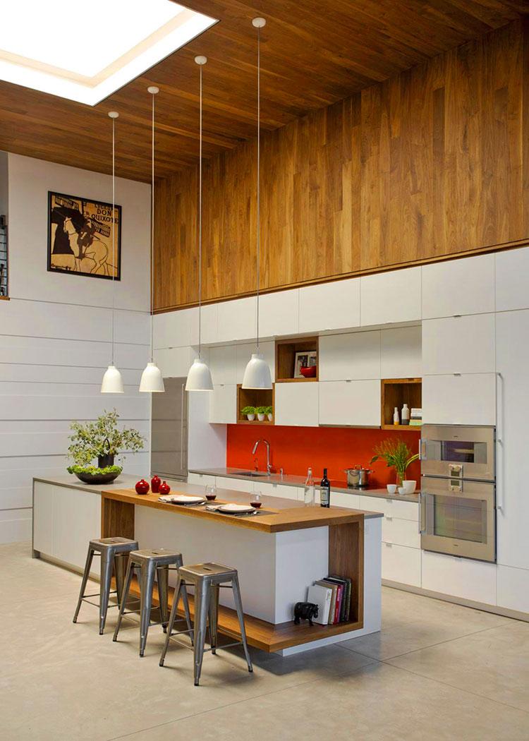 cuisine grande hauteur avec ilot central