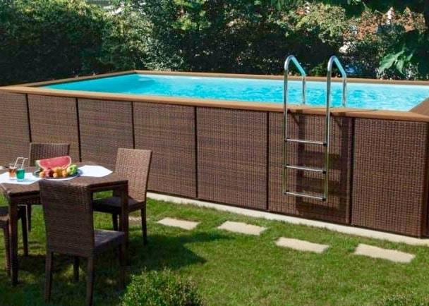 quel habillage pour d corer une piscine hors sol. Black Bedroom Furniture Sets. Home Design Ideas