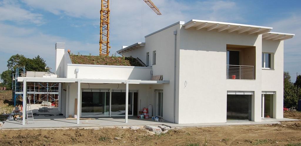 chantier toiture végétalisée sur une maison