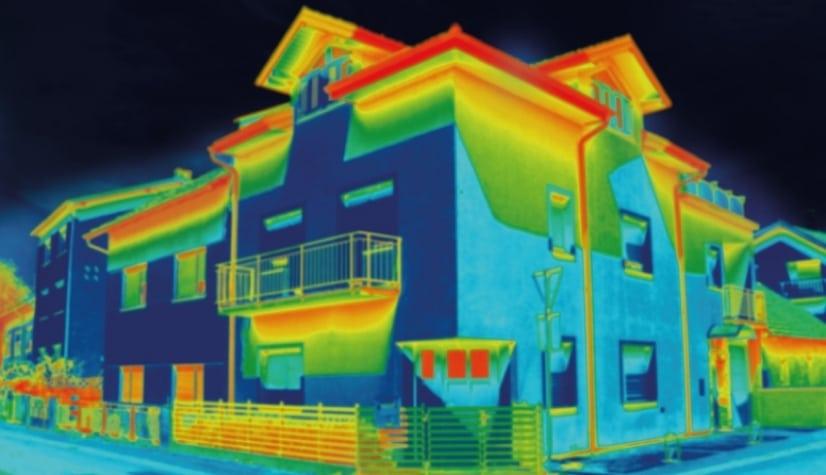 déperdition énergétique d'une maison