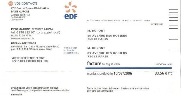 prix kWh EDF