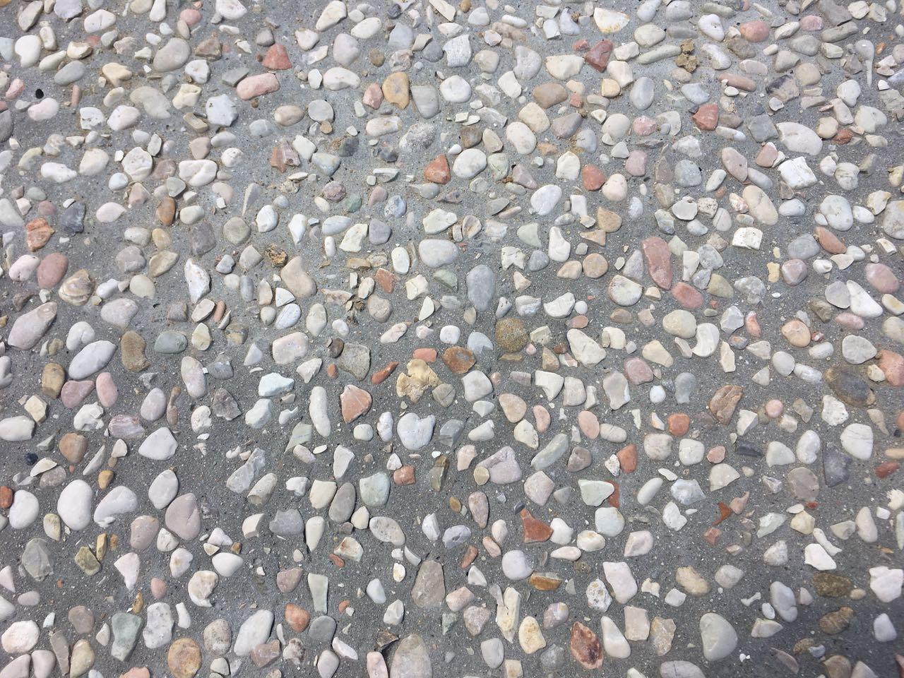 zoom sur du beton desactive
