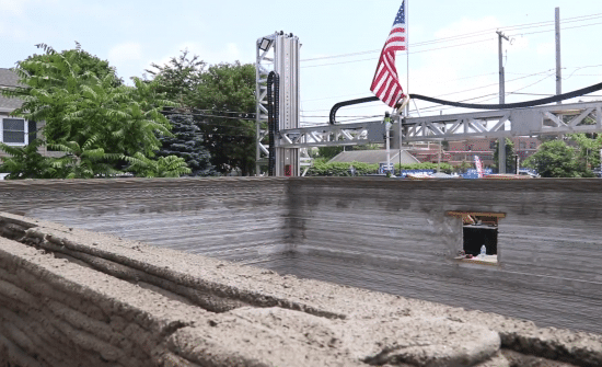 Construction maison avec imprimante 3D