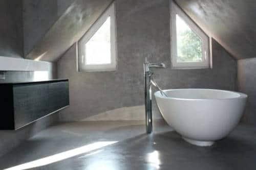enduit naturel - béton ciré du sol au plafond - luxe