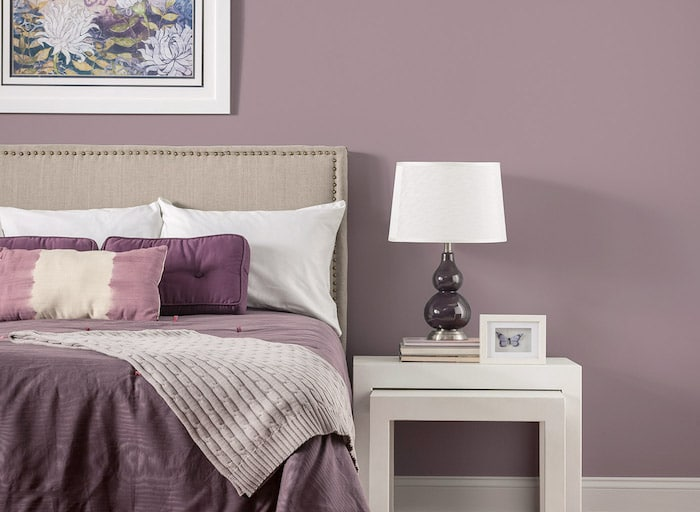chambre taupe association au violet