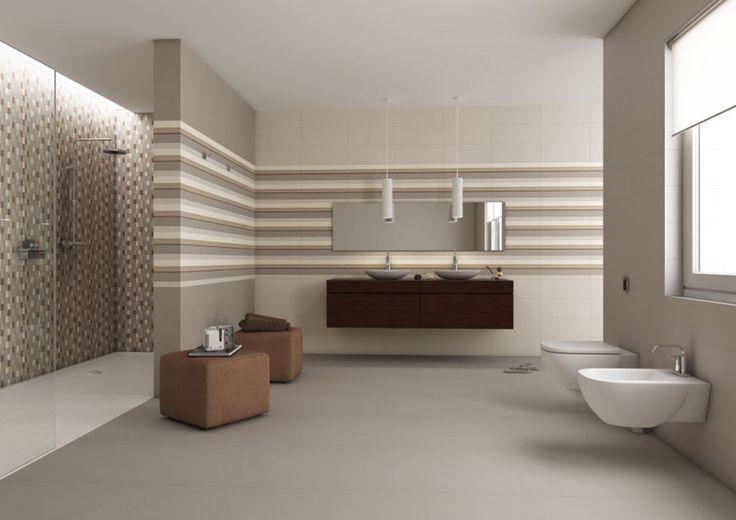 salle de bain décoration couleur taupe
