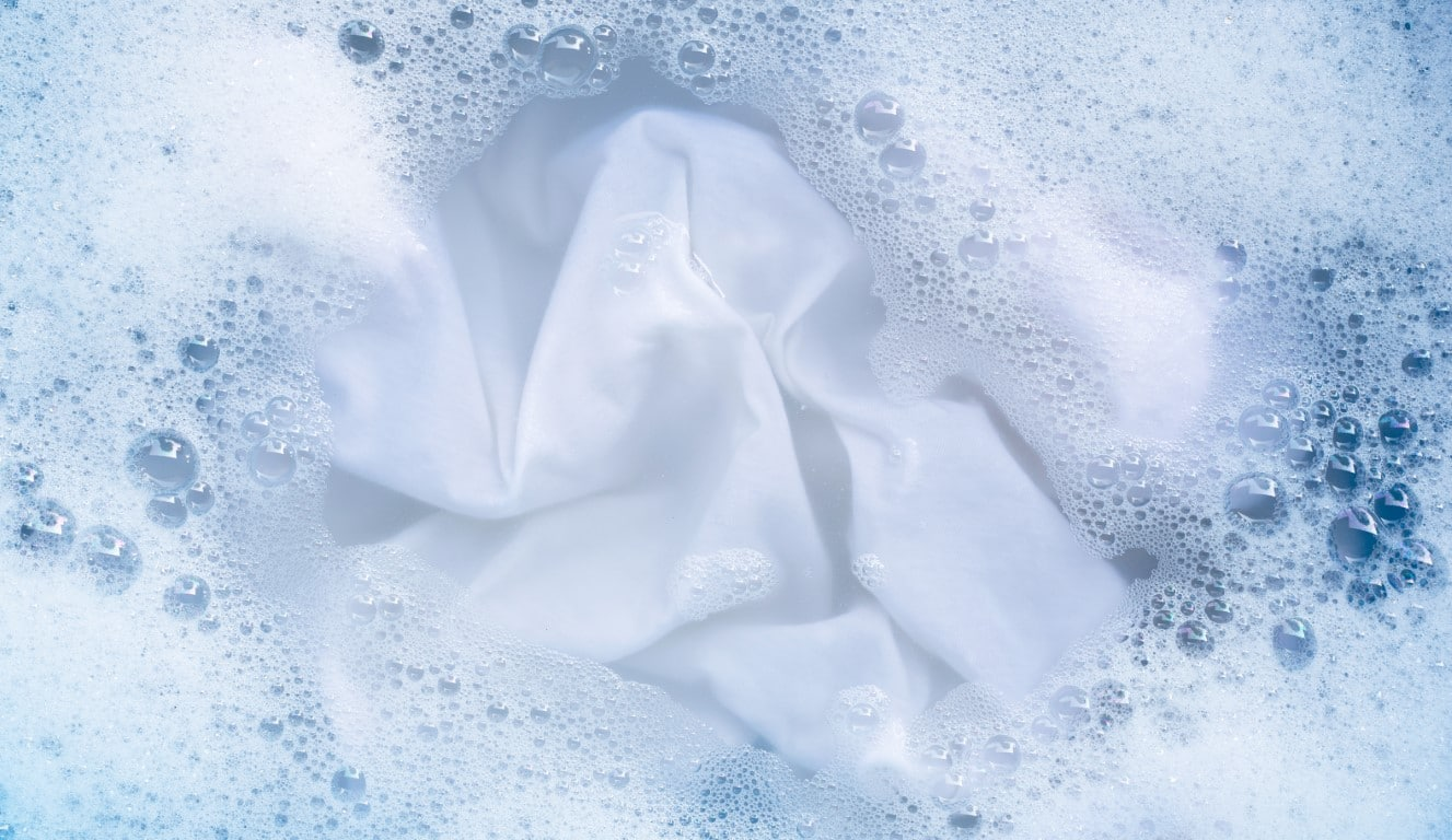 linge blanchi avec du bicarbonate de soude