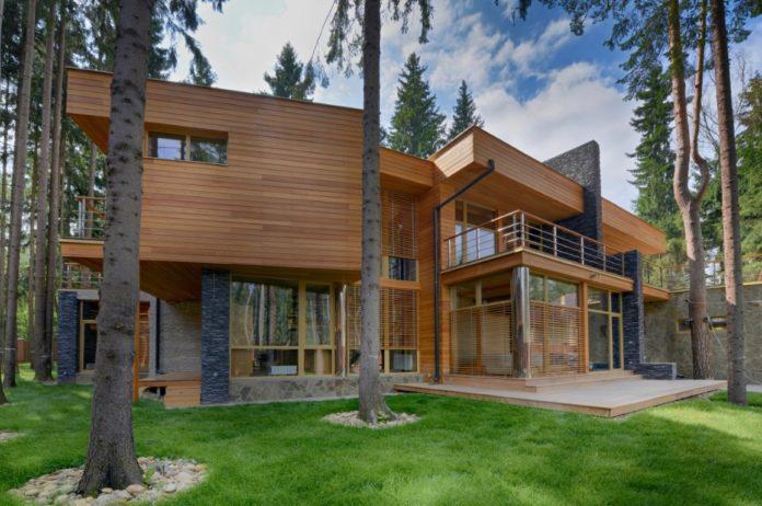 maison durable intégrée à la nature